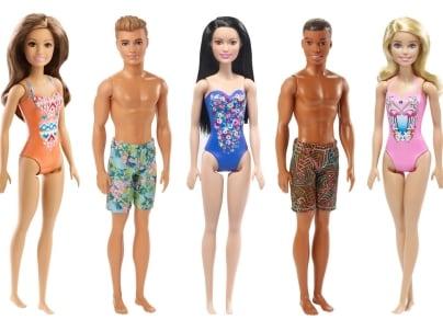 Barbie Κούκλα Beach - 5 Σχέδια - 1 Τεμάχιο