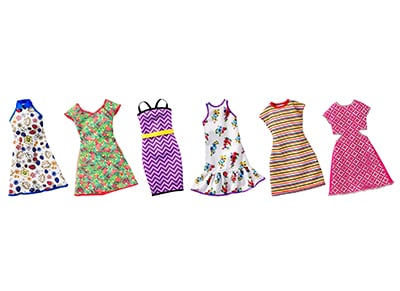 Barbie Πρωινά Σύνολα - FCT12 - 6 Σχέδια - 1 Τεμάχιο