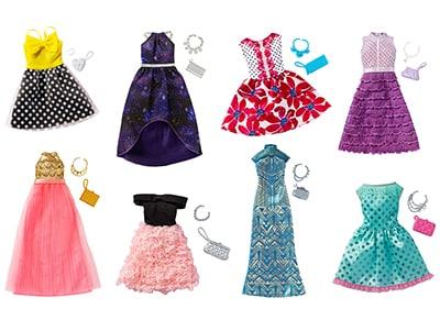 Barbie Βραδινά Σύνολα - FCT22 - 8 Σχέδια - 1 Τεμάχιο