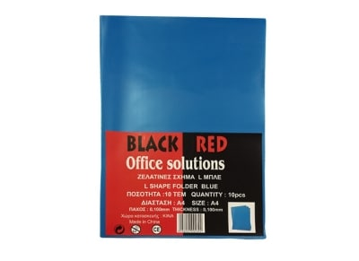 Θήκη διαφανής - Black-Red  - Σχήμα L - Μπλε - 0.10mm - 10 τεμάχια