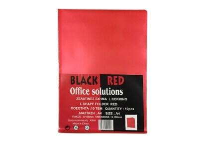 Θήκη διαφανής - Black-Red - Σχήμα L - Κόκκινο - 0.10mm - 10 τεμάχια