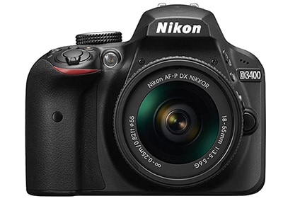 DSLR Nikon D3400 Body Wireless & AF-P DX 18-55 - Μαύρο
