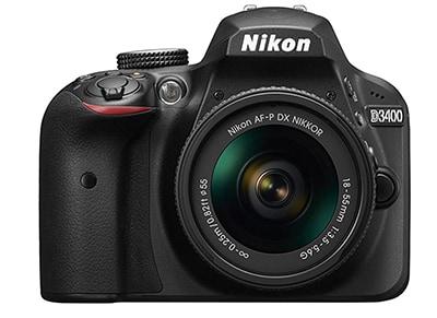 DSLR Nikon D3400 Body Wireless & AF-P DX 18-55 & Τσάντα Μεταφοράς