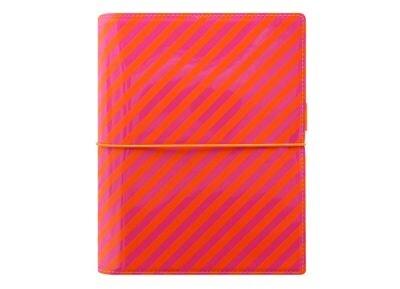 Οrganiser - Filofax - A5 - Domino Patent - Orange/Pink Stripes
