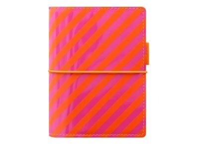 Οrganiser - Filofax - POCKET - Domino Patent - Orange/Pink Stripes