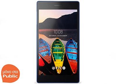 "Tablet Lenovo Tab 3 730X (ZA130087BG) - 7"" 4G 8GB Μαύρο tablets   αξεσουάρ   tablets"