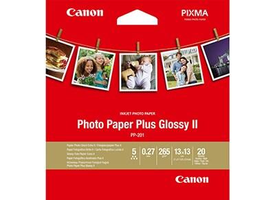 """Χαρτί Φωτογραφικό Canon Plus Glossy II PP-201 13x13cm (5x5"""") - 20 φύλλα"""