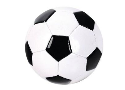 Μπάλα Δερμάτινη Ποδοσφαίρου Μικρή Classic Black and White
