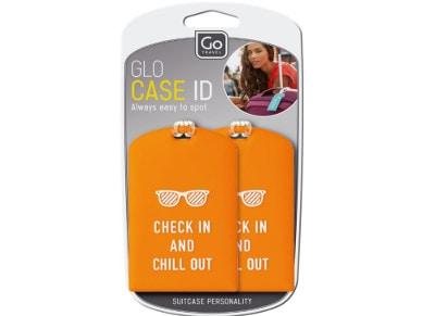 Ετικέτα Αποσκευών 2 τεμάχια- Glo Case ID Go Travel Πορτοκαλί