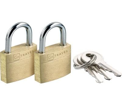Κλειδαριά Ασφαλείας 2 τεμάχια - Case Lock Twin Go Travel gadgets   funky stuff   αξεσουάρ ταξιδίου