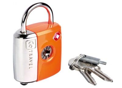 Κλειδαριά Ασφαλείας με διπλό κλείδωμα - Dual Combi/Key Lock Go Travel Πορτοκαλί gadgets   funky stuff   αξεσουάρ ταξιδίου