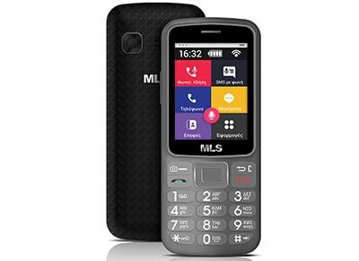MLS Easy S1 - Dual Sim 8GB Ασημί/Μαύρο - 4G Smartphone