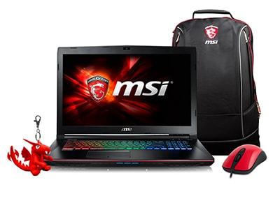 "Laptop MSI GE72VR 7RF-273NL Apache Pro - 17.3"" (i7-7700HQ/16GB/1256GB/GTX 1060)"