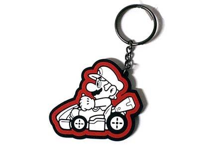 Μπρελόκ Bioworld Nintendo Black/White Mario Kart Keychain