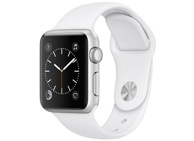 Apple Watch Series 1 - 38mm Aluminium Silver - Sport Band Λευκό wearables  drones   hitech   smartwatches