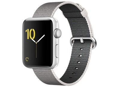 Apple Watch Series 2 - 42mm Aluminium Silver - Woven Nylon Band Ασημί