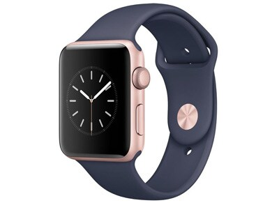 Apple Watch Series 2 - 42mm Aluminium Rose Gold - Sport Band Μπλε