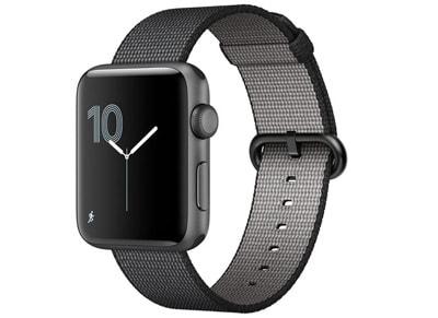 Apple Watch Series 2 - 42mm Aluminium Space Gray - Woven Nylon Band Μαύρο