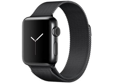 Apple Watch Series 2 - 38mm Stainless Steel Space Black - Milanese Loop Μαύρο