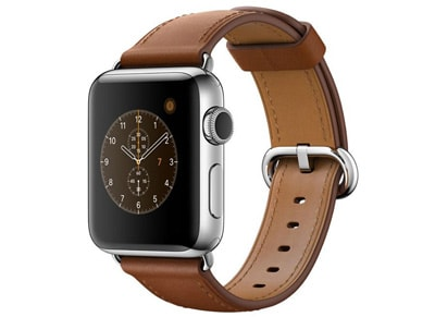 Apple Watch Series 2 - 38mm Stainless Steel - Classic Buckle Καφέ
