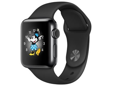 Apple Watch Series 2 - 38mm Stainless Steel Space Black - Sport Band Μαύρο wearables  drones   hitech   smartwatches