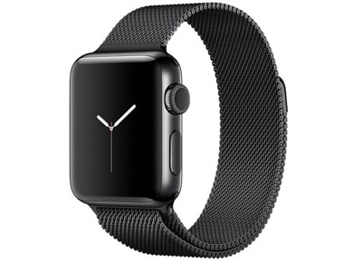 Apple Watch Series 2 - 42mm Stainless Steel Space Black - Milanese Loop Μαύρο wearables  drones   hitech   smartwatches