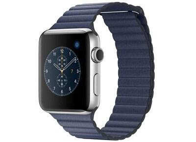 Apple Watch Series 2 - 42mm Stainless Steel - Leather Loop Μπλε L