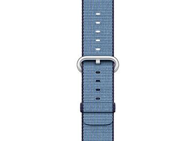 Apple Watch Series 2 42mm Woven Nylon Band - Navy/Tahoe Blue