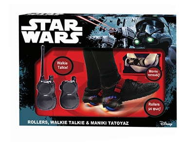 Λαμπάδα Star Wars - Rollers Walkie Talkie Tattoo Μανίκι