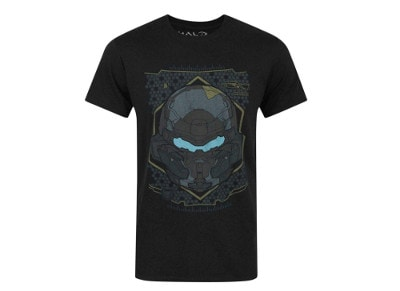 T-Shirt Jinx Halo 5 Locke Hud Helmet Black - M