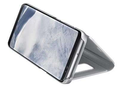 Θήκη Samsung Galaxy S8 - Samsung Clear View Cover Ασημί τηλεφωνία   tablets   αξεσουάρ κινητών   θήκες