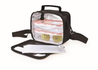 Lunchbag Classic Iris Barcelona Μαύρο και Δύο Φαγητοδοχεία 4.2 lt gadgets   funky stuff   lunchboxes   αξεσουάρ