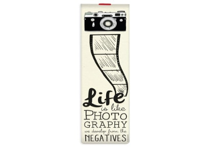 Σελιδοδείκτης Life is like Photography με Λάστιχο - Legami Booklovers Bookmark
