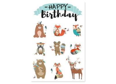 Ευχετήρια Κάρτα LEGAMI Happiness Greeting Card Animals Happy Birthday