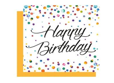 Ευχετήρια Κάρτα LEGAMI Greeting Card Watercolor Dots Happy Birthday