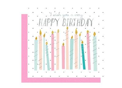 Ευχετήρια Κάρτα LEGAMI Greeting Card Happy Birthday Candles