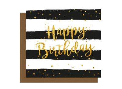 Ευχετήρια Κάρτα LEGAMI Greeting Card Happy Birthday Stripes