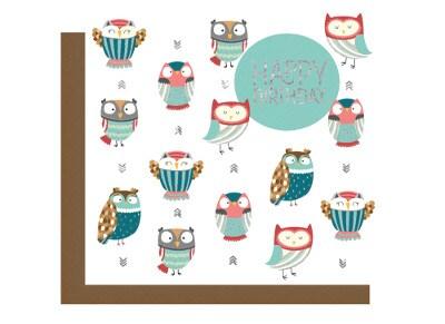 Ευχετήρια Κάρτα LEGAMI Greeting Card Happy Birthday Owl