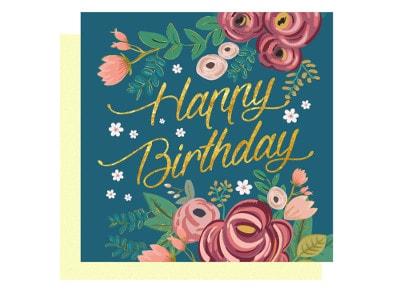 Ευχετήρια Κάρτα LEGAMI Greeting Card Happy Birthday Flowers