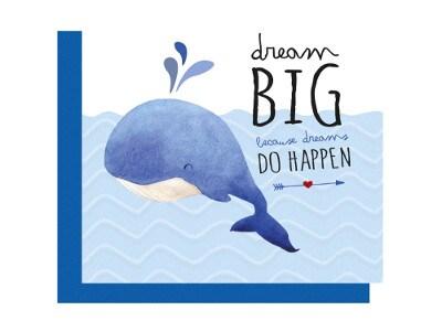 Ευχετήρια Κάρτα LEGAMI Greeting Card Dream Big Whale