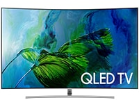 "Τηλεόραση Samsung 75"" Curved Smart QLED Ultra HD QE75Q8C"
