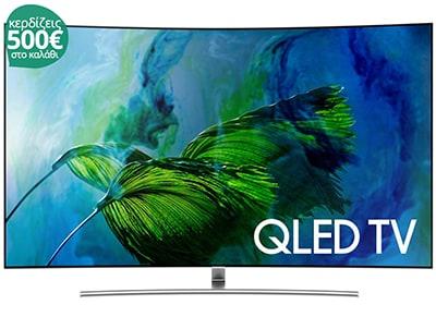 """Τηλεόραση Samsung QE65Q8C 65"""" Curved Smart QLED Ultra HD"""