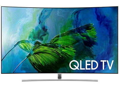 "Τηλεόραση 55"" Samsung QE55Q8C - 4K QLED Curved Smart TV"