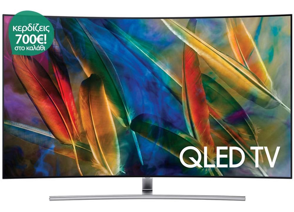 """Τηλεόραση Samsung QE65Q7C 65"""" Curved Smart QLED Ultra HD"""