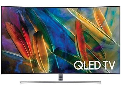 "Τηλεόραση 55"" Samsung QE55Q7C - 4K QLED Curved Smart TV"