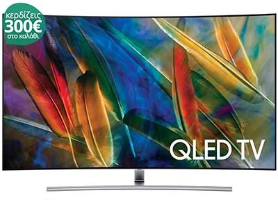 """Τηλεόραση Samsung QE55Q7C 55"""" Curved Smart QLED Ultra HD"""