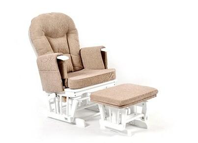 Πολυθρόνα Θηλασμού - Wooden Glider Kidscom Λευκό-Καφέ παιχνίδια   παιδικά   βρεφικά  0 1 ετών    για τη μαμά