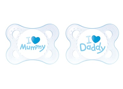 Βρεφική Πιπίλα MAM I Love Mum and Dad - 2 Τεμάχια
