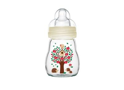 Μπιμπερό Mam Feel Good Γυάλινο 170ml Unisex βρεφικά   φαγητό μωρού   μπιμπερό