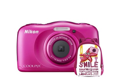 Compact Nikon Coolpix W100 Αδιάβροχη & Τσάντα Μεταφοράς - Ροζ